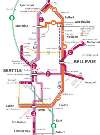 Updated Sound Transit 3 draft plan map. (Sound Transit)