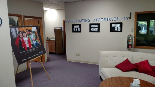 Moderate income familes come through the Homestead Office hoping to become homeowners.