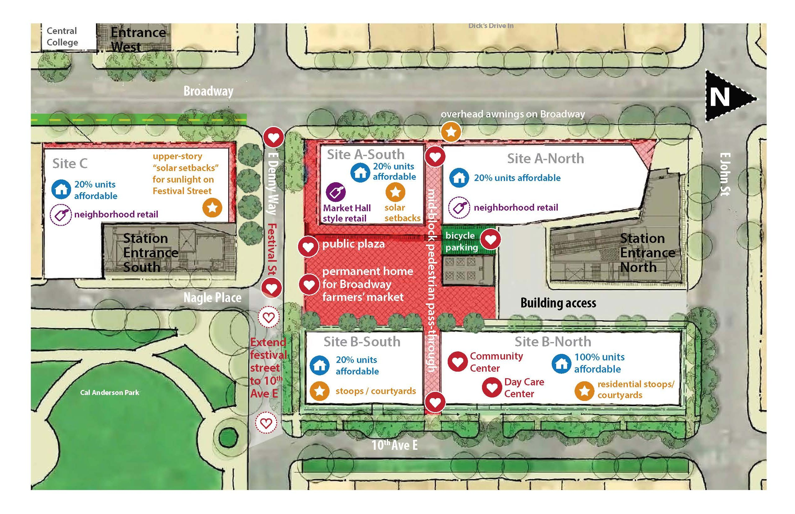 Olympia Capitol Campus Map.Sound Transit Green Lights Capitol Hill Station Tod The Urbanist