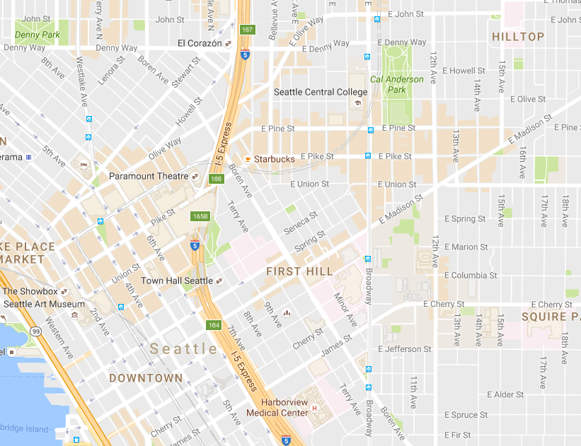 Map of the Week: Google Maps Areas Of Interest | The Urbanist
