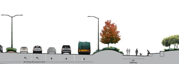 One half of the new Montlake Boulevard. (WSDOT)