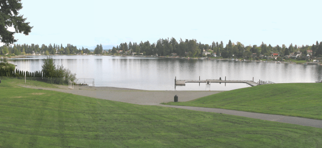 The public can access the waters of Angel Lake via the eponymous Angel Lake Park. (Photo by