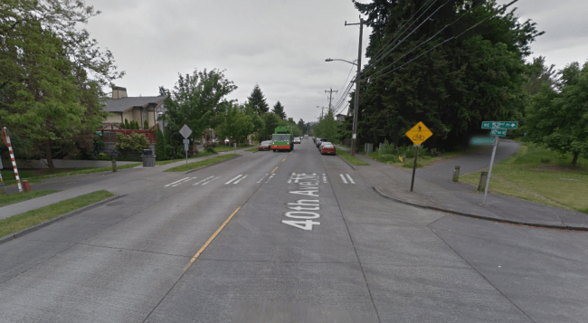 Street view of the intersection. (Google Maps)