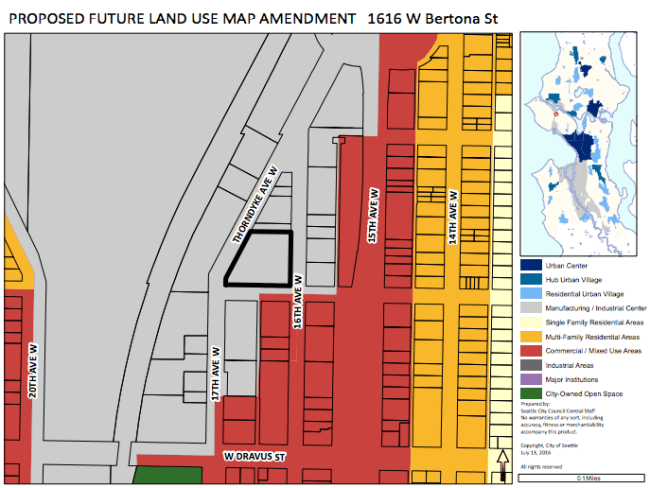 Proposed Interbay FLUM amendment. (City of Seattle)