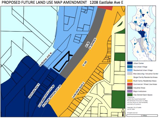 Eastlake FLUM proposal. (City of Seattle)