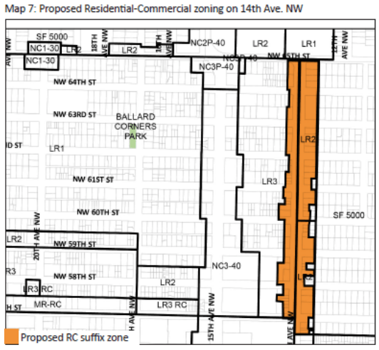 Proposed RC suffix rezone. (City of Seattle)