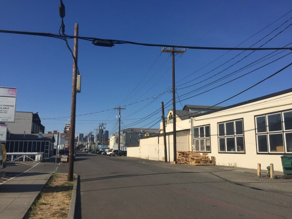 Looking north from the Duwamish Industrial Area.