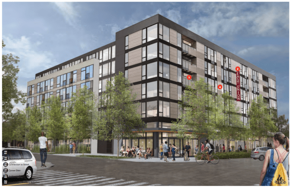 Rendering of the proposed 2220 E Union St project, subject to the rezone. (City of Seattle / Weinstein)