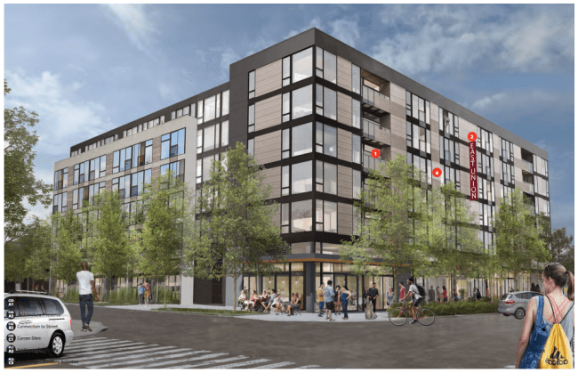 Rendering of 2220 E Union St from the 23rd Ave E. (City of Seattle / Weinstein)