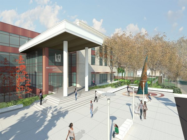 A rendering of the King County juvenile detention project. (King County)