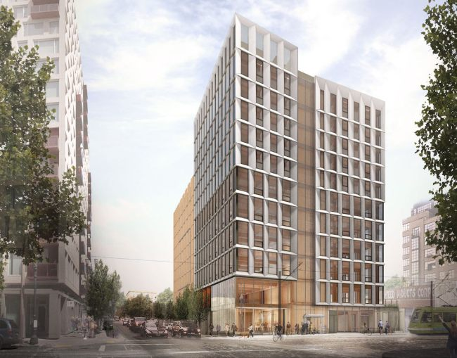 Framework designed this 12 story mass timber tower for the Pearl District. (Framework)