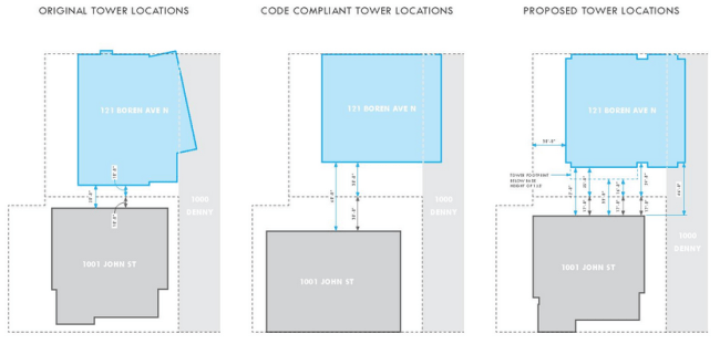 The tower placement options considered. (Via)