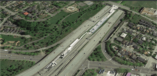 Aerial view of the future Judkins Park Station. (Sound Transit)