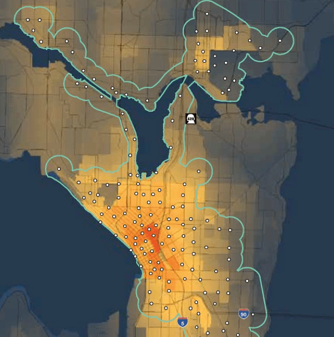 Motivate's proposed expansion map (CIty of Seattle)