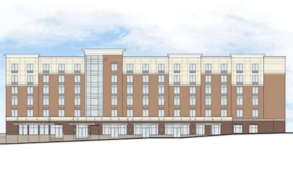 The new six-story Hilton hotel. (City of Lynnwood)