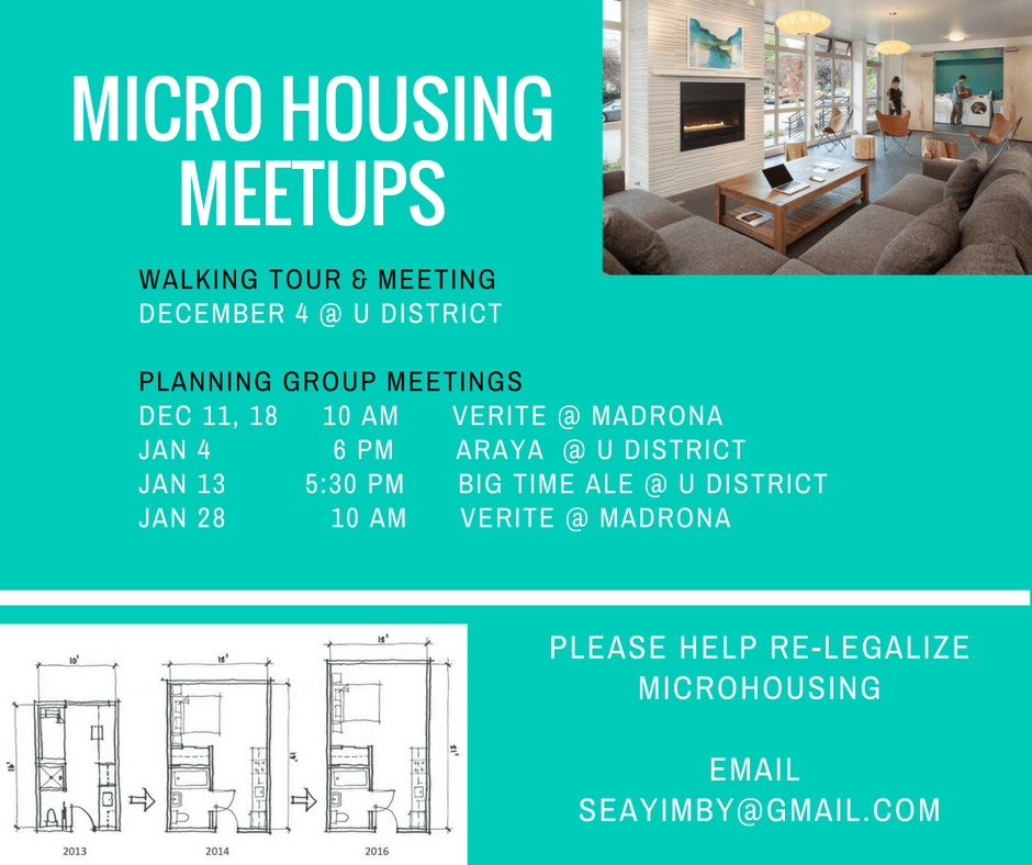 Event: Microhousing Walking Tour With Seattle YIMBYs
