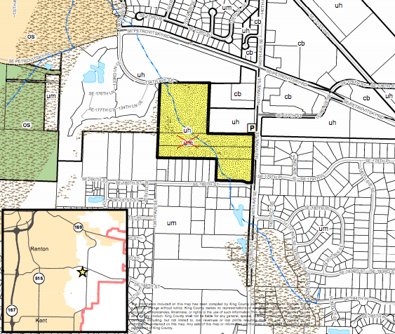 Future Land Use Map change proposed in Fairwood. (King County)