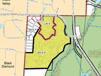 Contingent zoning near Maple Valley. (King County)