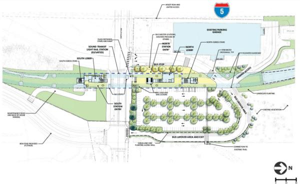 Mountlake Terrace station area layout. (Sound Transit)