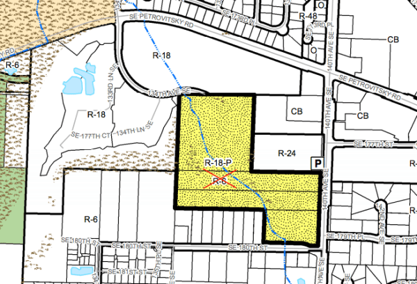 Proposed zoning for the Fairwood parcels. (King County)