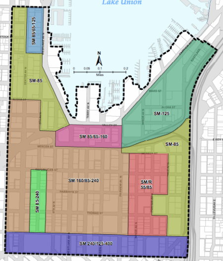 Current zoning in South Lake Union. (City of Seattle)
