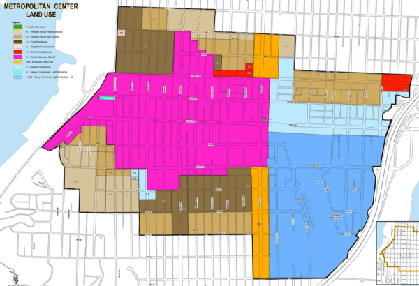 Current generalized zoning for the Metro Everett area. (City of Everett)