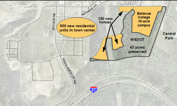 Location of new residential units within the Issaquah Highlands. (City of Issaquah)