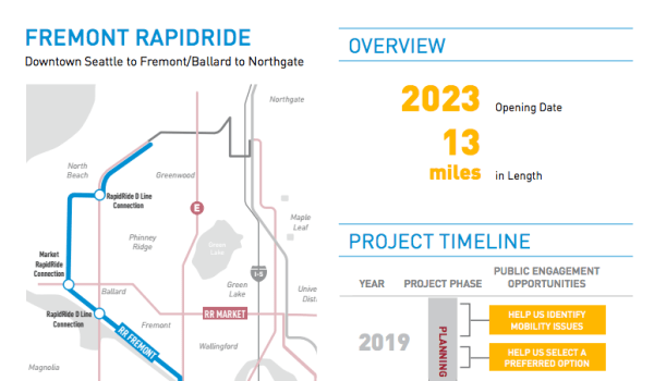 Note the dark grey line connecting the blue line to Northgate. (City of Seattle)