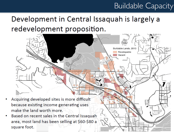 Significant developable land within Central Issaquah. (City of Issaquah)