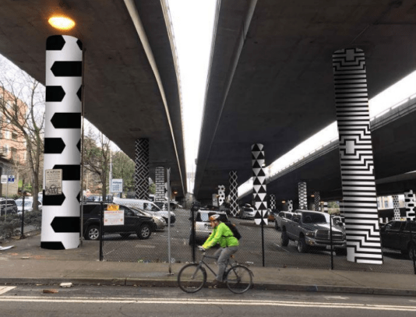 Rendering of the checker-like patterns by Alyea and Stromberg. (Urban Artworks)