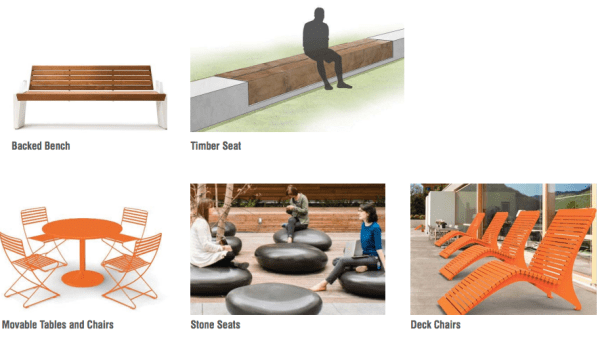 Concepts for parking furniture. (Walker/Macy / City of Seattle)