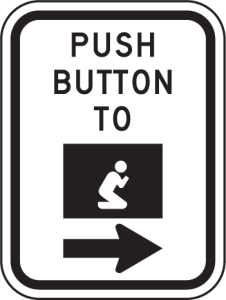 Push button to beg