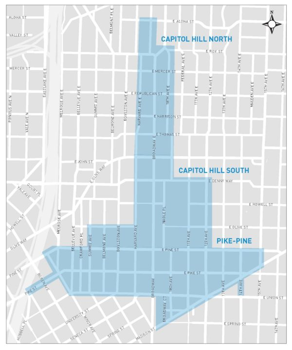 Area of where the parking changes are proposed. (City of Seattle)