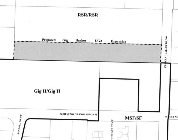 Gig Harbor urban growth area expansion. (Pierce County)