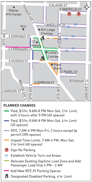 Proposal for parking regulation changes in Columbia City. (City of Seattle)