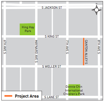 Where the Canton Alley improvements were made. (City of Seattle)