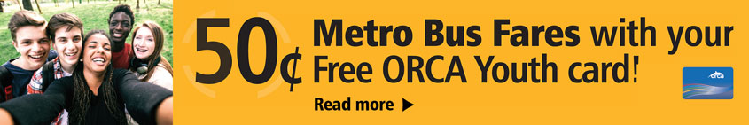Summer Reduced Youth Fares On Metro And Sound Transit Start