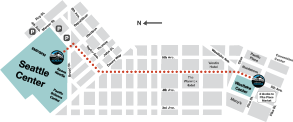 Route map of the Seattle Monorail. (City of Seattle)