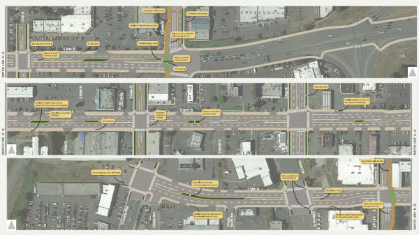 Street design concept for S 38th St. (City of Tacoma)