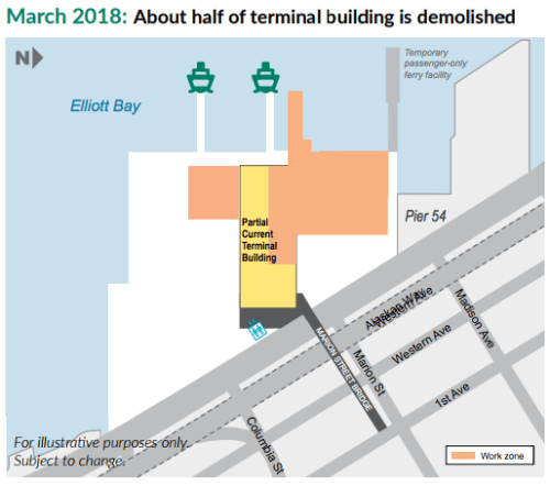 Construction impacts in March 2018. (WSF)