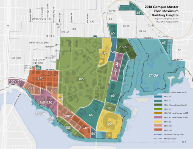 Recommended zoning by the Hearing Examiner. (University of Washington)