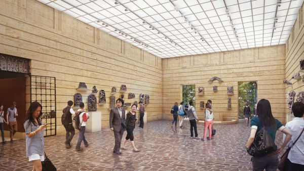 Rendering of a restored exhibition room. (Seattle Art Museum)