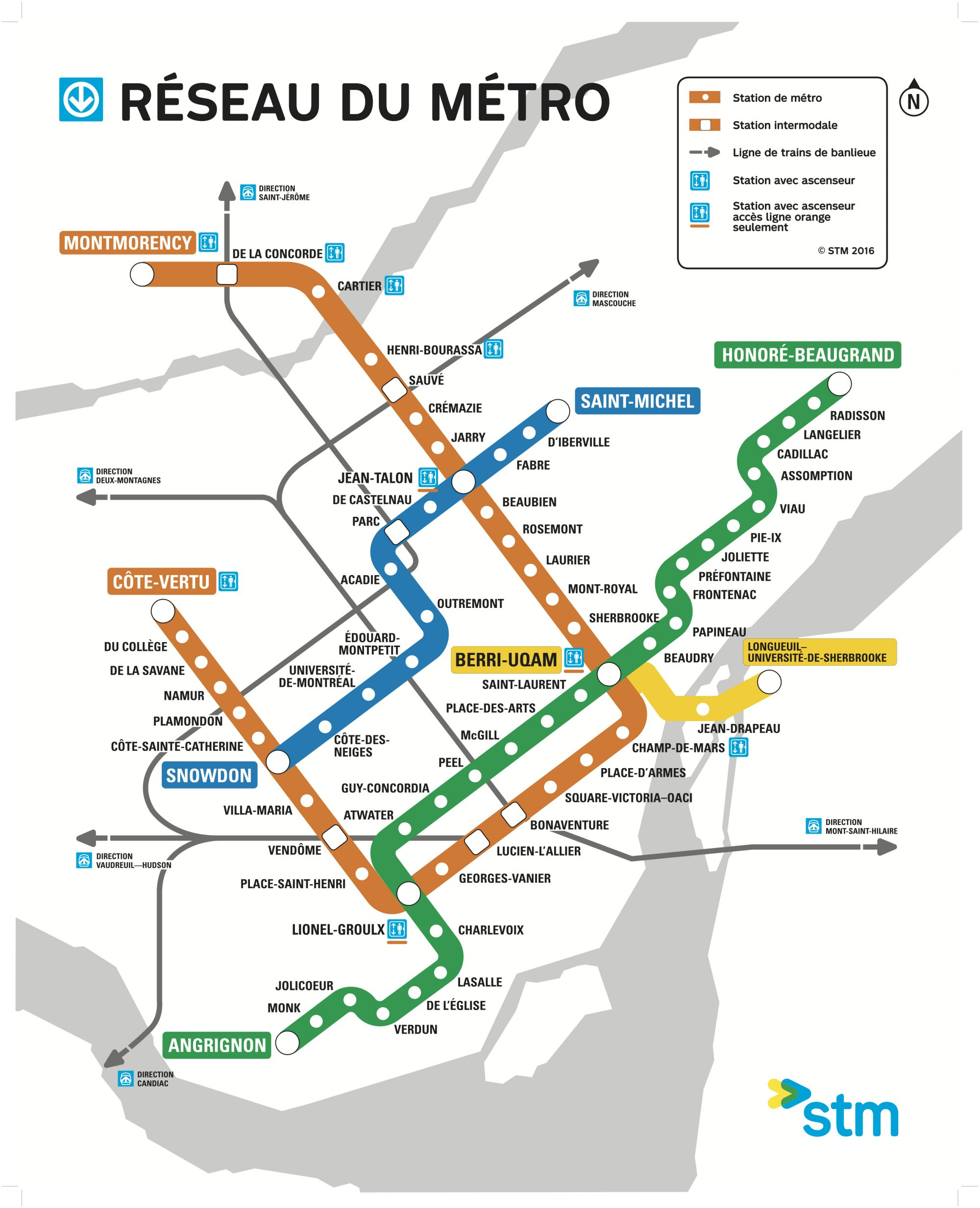 Metro Montreal Map Map of the Week: Montréal Metro » The Urbanist Metro Montreal Map