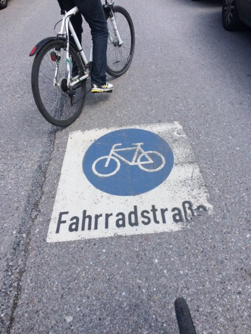 A bike street in Munich.