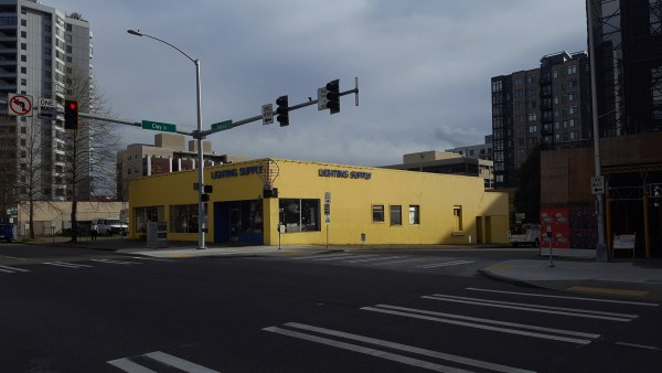 A one-story retail building in Belltown that currently has no redevelopment plans. (Photo by author)