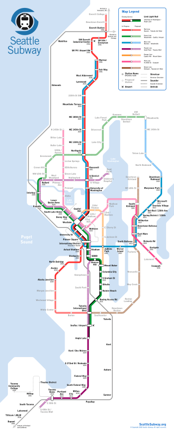 2018 Seattle Subway vision map. Click for larger version. (Seattle Subway)
