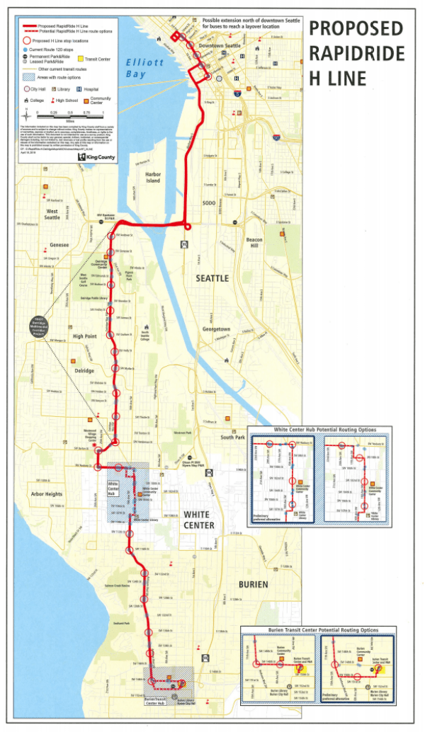 General corridor plan for the RapidRide H Line. (King County)