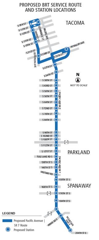 Planned BRT corridor. (Pierce Transit)