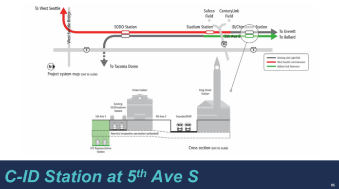 How the Representative Project alternative on 5th Ave S would function. (Sound Transit)