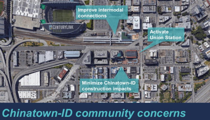 Three key issues that Sound Transit heard from community members regarding Chinatown-International District. (Sound Transit)